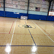 Sport court south gymnasium flooring