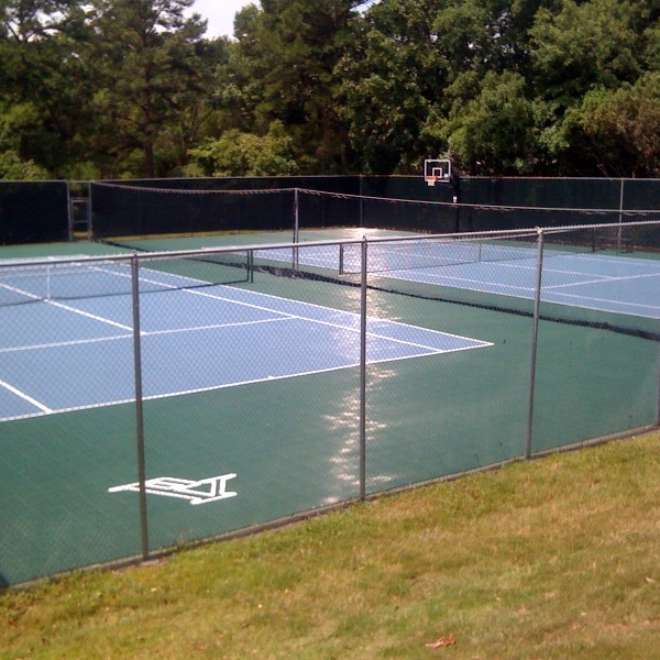 Oregon Tennis Courts and Basketball Hoop Sport Court