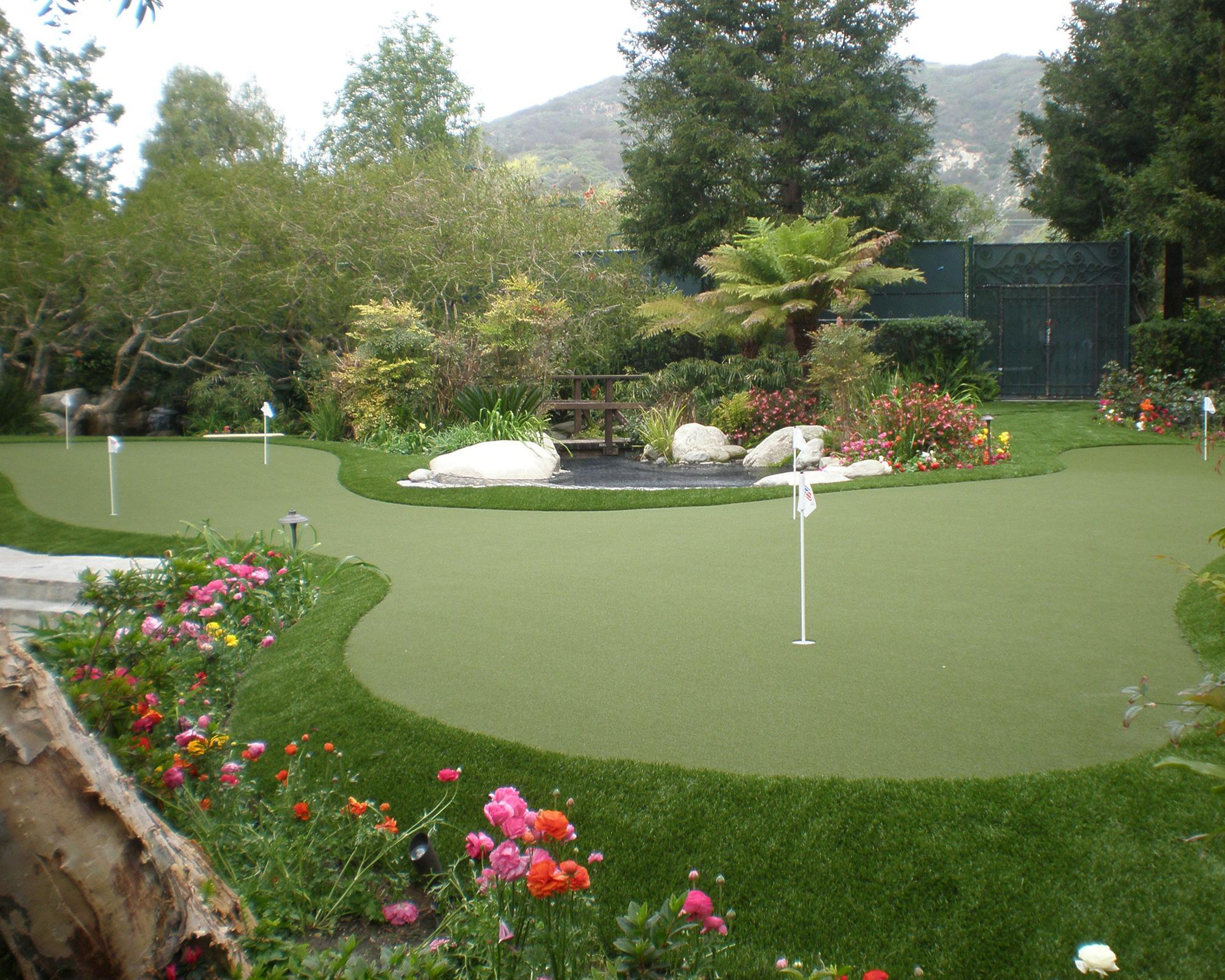 Backyard Putting Green from Sport Court