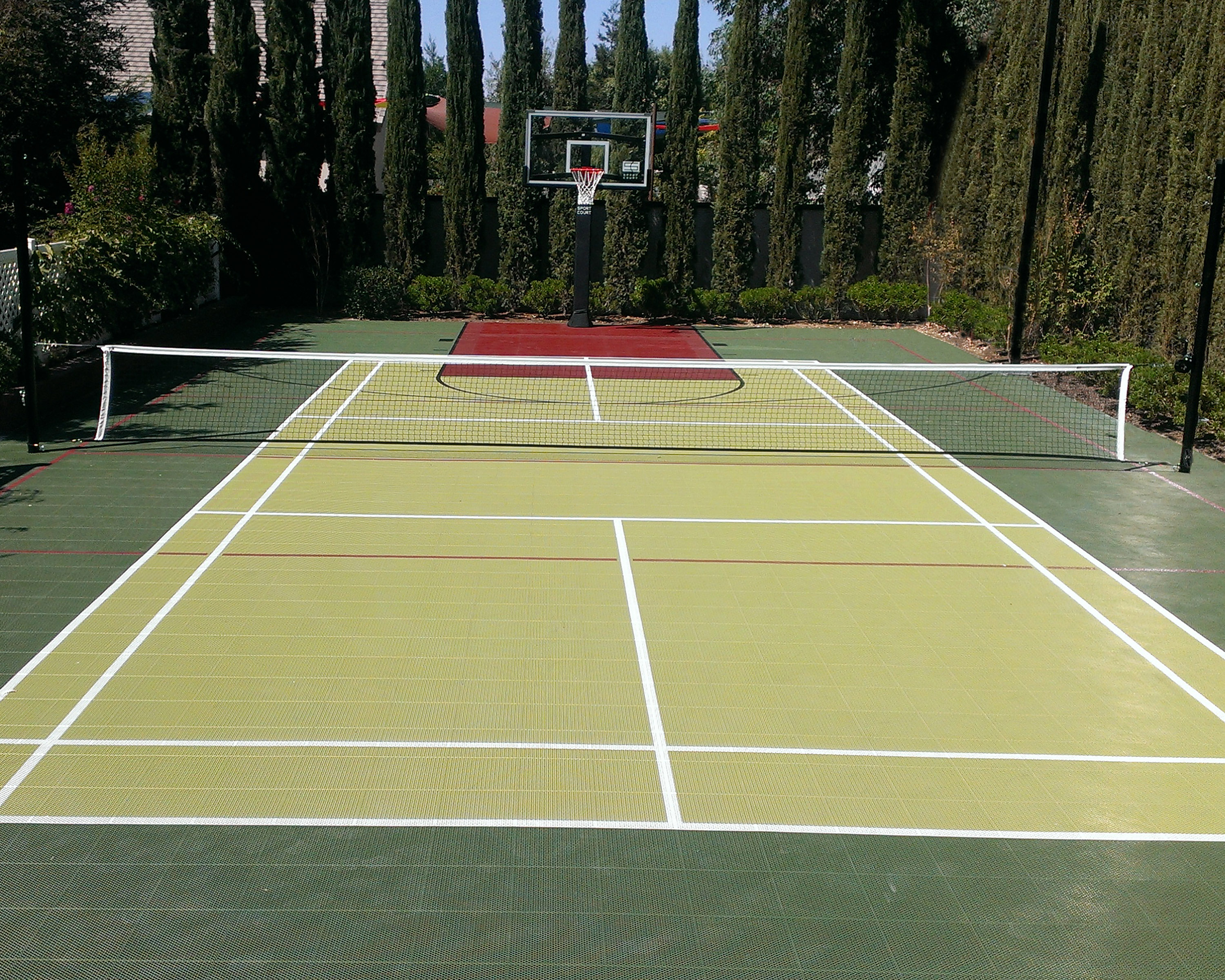 Home Tennis Court and Basketball Court designed with Court Builder™