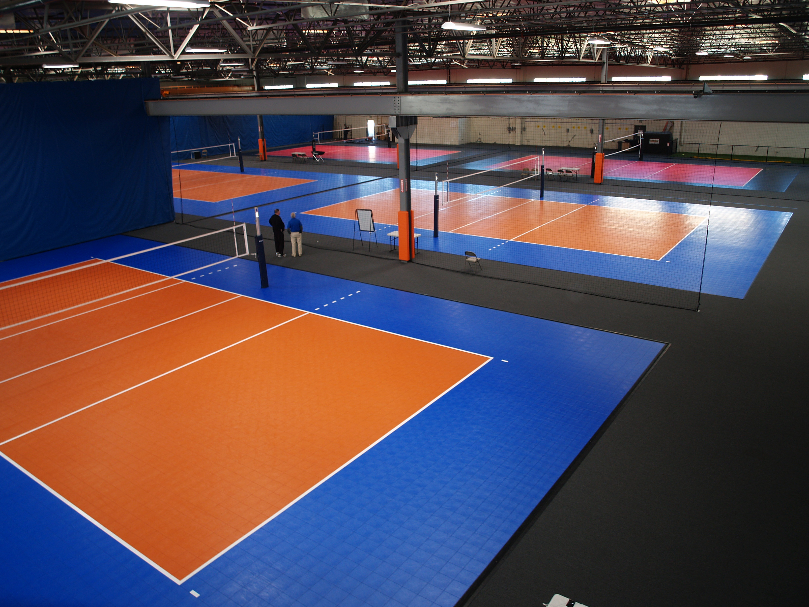 Volleyball Courts with Sport Court Flooring