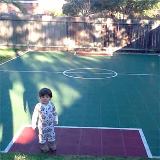 Sport Court Backyard Athletic Tiles