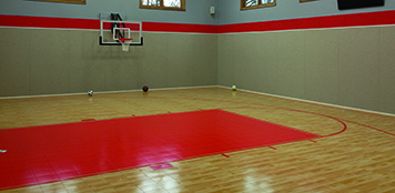 Maple Select™ Sport Court With Custom Basketball Court Flooring