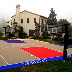 Design your own backyard basketball court with Court Builder™