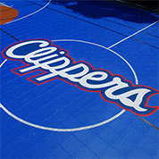 Clippers Logo Custom Basketball Floor by Sport Court