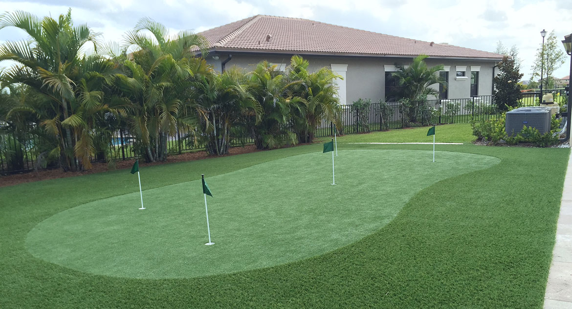 Florida Home Putting Green by Sport Court South Florida