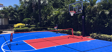 Florida Backyard Basketball Court