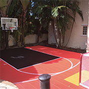 Backyard Basketball Court by Sport Court Florida