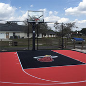 Sport Court with Miami Heat Logo