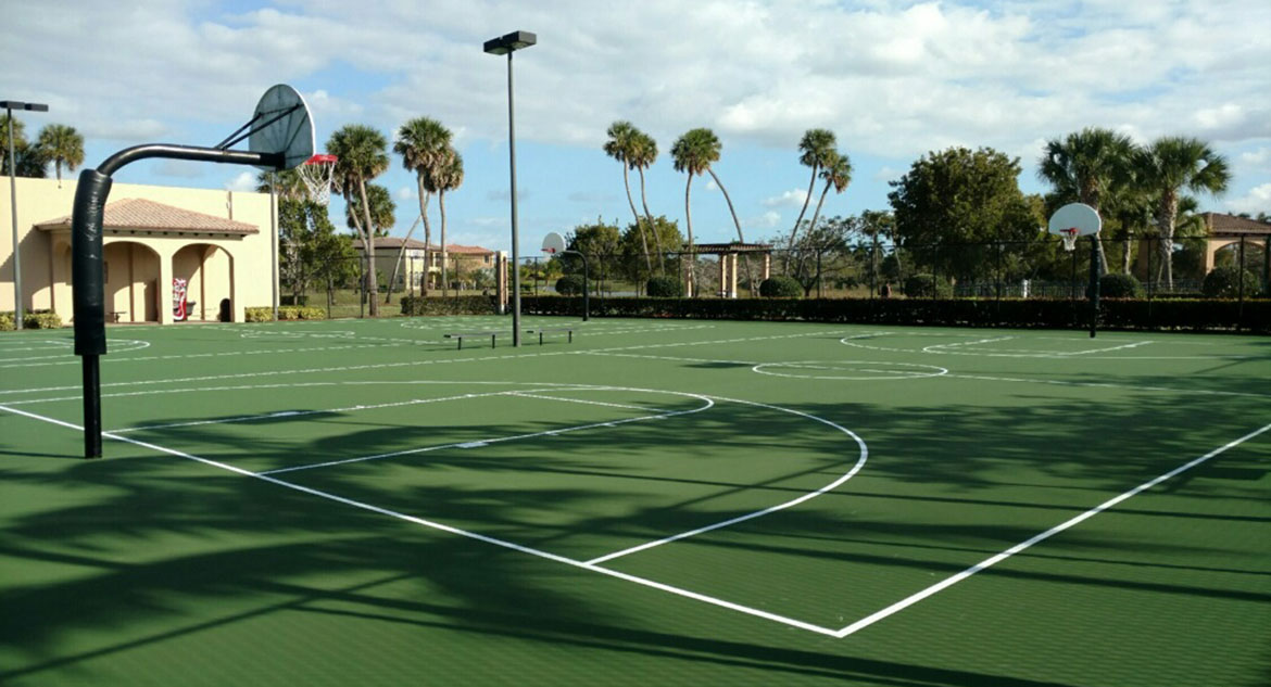 Acrylic Tennis Court Resurfacing by Sport Court South Florida