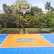 Outdoor blue and grey Sport Court