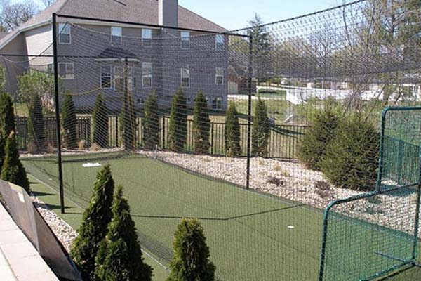 outdoor batting cage built by sport court