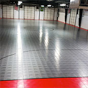 indoor futsal court at facility