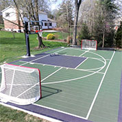 home basketball court and multisport court