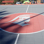 customized community basketball court wellston, mo