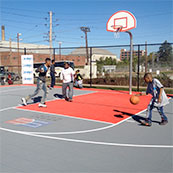 outdoor community basketball court