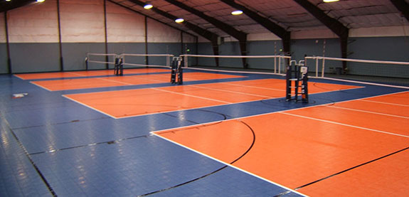 commercial volleyball court