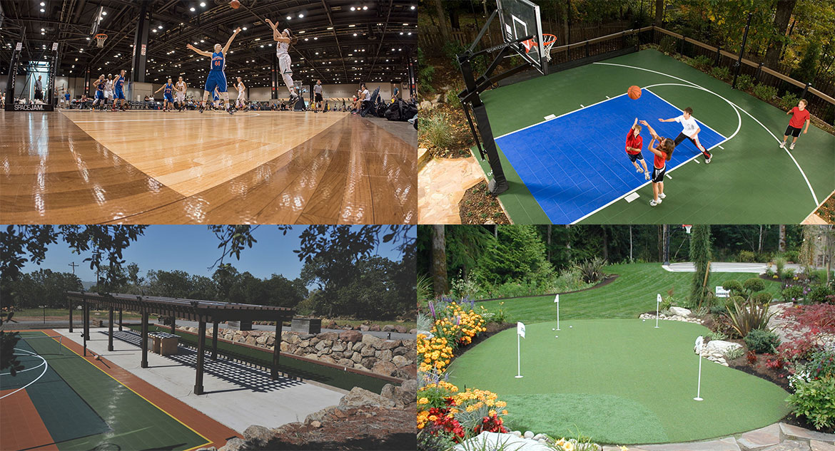 Court Builders for Multi-Sports / Basketball / Tennis / Putting Green