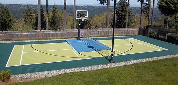 Washington outdoor multi-sport court